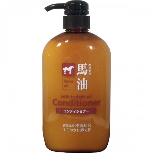 Kumanoyushi熊野油脂  无硅弱酸性马油护发素  600mL